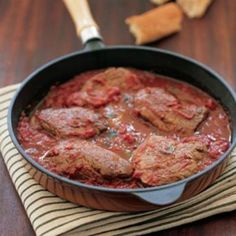 Ostrich Fillets with Pizziola Sauce