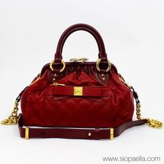 a27332311166 Marc Jacobs Red Quilted Leather Stam Bag Siopaella Designer Exchange Dublin
