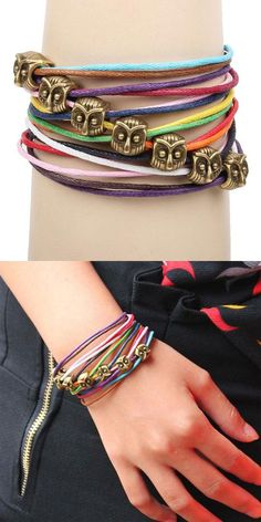 Cute Owl Colorful Ro  Cute Owl Colorful Rope Bracelet for big sale !  #owl   #colorful   #rope   #bracelet   #cute