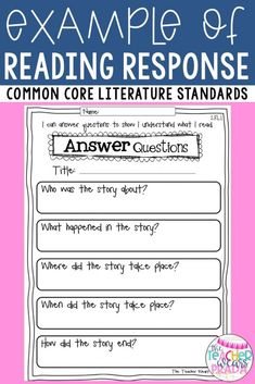 Reading Response Questions & Graphic Organizers for 2nd Grade