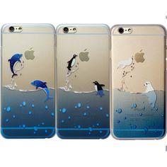 Dolphin Penguin Polar Bear Animal Clear Phone Case Iphone 7 Plus 8 6 6S 5 Se X