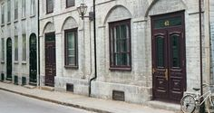 Picture of row of houses, on a street in Quebec City, reminiscent of France. Quebec City, The Row, Houses, France, Architecture, Street, Pictures, Homes, Arquitetura
