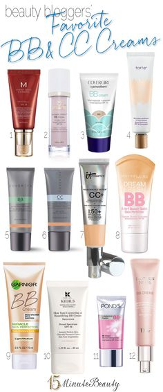 Beauty Bloggers and Their Favorite BB and CC Creams  via @15 Minute Beauty