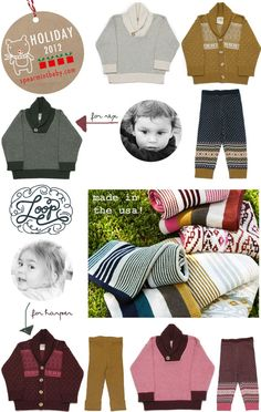 Loop Collection for dress up sweaters, pants and BEAUTIFUL photo shoot quality blankets.