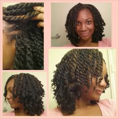 Two different methods of doing the Havana Twists using the crochet method. I think I can actually do this now lol. (Click pic for videos) (Natural hair tutorial, natural hairstyles)