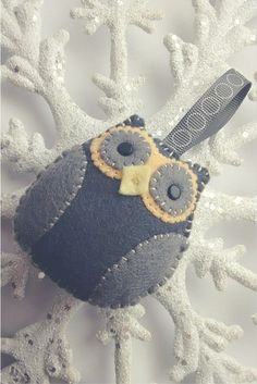 Felt Owl Pattern for Christmas Decoration