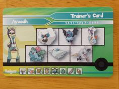 Pokemon Trainer Card ID Customized by d2ylanStuff on Etsy