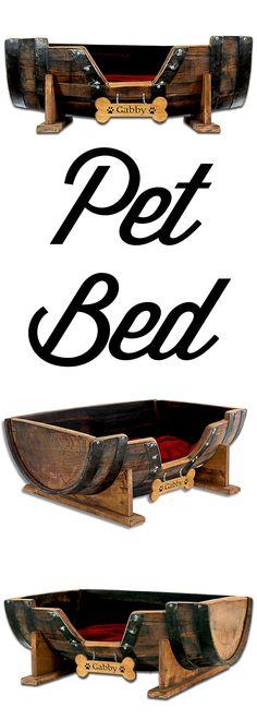 Pet bed, dog bed, place for dog, bed for dog, bed for animal, bed for pet, cat bed, rustic dog bed, whiskey barrel dog bed