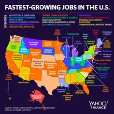 According to the Bureau of Labor Statistics, the fastest-growing job across eight U. states is solar panel installation. What are the fastest growing jobs in your state? Jobs In North Carolina, Power Map, Career Sites, Career Exploration, New Industries, Forced Labor, Solar Panel System, Fast Growing, Social Science