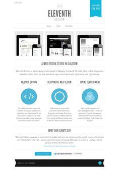 Eleventh Edition - #Web #Design Glasgow - #Webdesign #inspiration www.niceoneilike.com