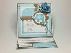 (Ref:B165) 15cm x 15cm easel card. Stamps and dies MFT 'Beautiful Baby', Die-namics 'Blueprints 14', La La Land 'Berry Flourish', Dienamics 'Rolled Daisy', Marianne 'Rolled Roses'. Papers Nitwit download 'Bear Necessities'.