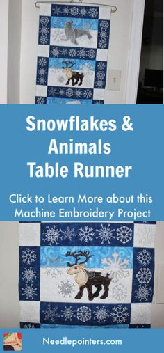 This video shows a machine embroidered table runner named Snowflakes and Animals. The pattern is from Sweet Pea Machine Embroidery Designs Best Embroidery Machine, Hand Embroidery Patterns Free, Baby Embroidery, Embroidery Flowers Pattern, Free Machine Embroidery Designs, Vintage Embroidery, Embroidery Ideas, Sewing Machine Projects, Machine Embroidery Projects