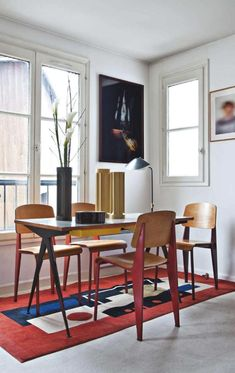 The Parisian home of interior decorator Caroline Wiart & her husband, collector Patrice Galiana.