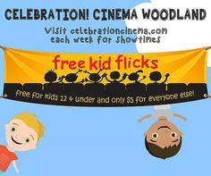 Whole Summer of Free Summer Kids Movies at Celebration Woodland