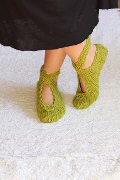 Lovely Green Ballerina Slippers by aykelila on Etsy, $25.00 Aw!! Must Have!!