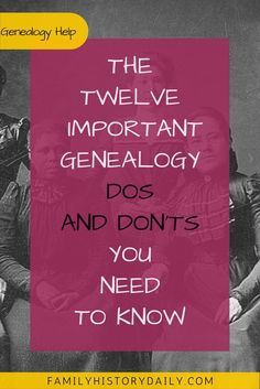 Become a better family history researcher with this helpful list of genealogy tips. by trisha Free Genealogy Sites, Genealogy Chart, Genealogy Research, Family Genealogy, Genealogy Quotes, Genealogy Forms, Family Tree Research, Genealogy Organization, Family History Book