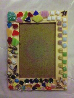 Mosaic Picture frame craft