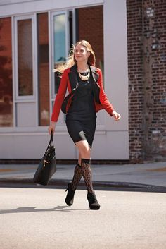 Add a bold blazer and edgy accessories #ladylikewithanedge #tjmaxx
