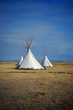 Native American Teepees in #NorthDakota