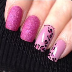 💖 pink leopard nails with Pupa 209 Lilac and Opi Samba-dy loves purple (sand) 💖 I love so much this combo! Glam Nails, Fancy Nails, Love Nails, Beauty Nails, Pretty Nails, Leopard Nail Designs, Nail Polish Designs, Nail Art Designs, Nail Candy