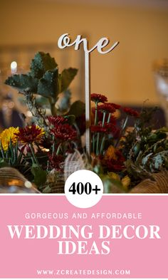 Over 400 Wedding Decoration Ideas & Unique Signs for Your Big Day! Gorgeous table numbers, table signs, bridal accessories & gifts... and so much more!   Handmade Wedding Decor & Gifts at www.ZCreateDesign.com... or shop ZCreateDesign on Etsy