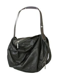 Helmut Lang - soft black leather bag