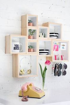 Recreate this surprisingly simple DIY with just wooden boxes, wood glue, and paint!