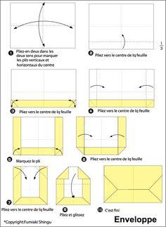 pliage d 39 une lettre enveloppe enveloppe origami. Black Bedroom Furniture Sets. Home Design Ideas
