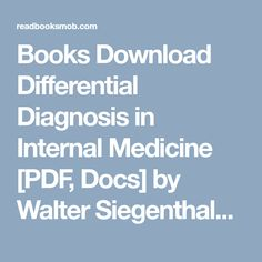 Download pdf books bulls bears and other beasts pdf by santosh books download differential diagnosis in internal medicine pdf docs by walter siegenthaler online fandeluxe Image collections