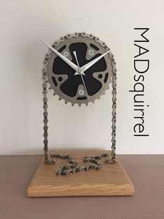 A personal favourite from my Etsy shop https://www.etsy.com/uk/listing/497054726/floating-campagnolo-small-chainring-desk