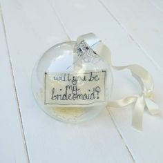 """""""Will you be my bridesmaid?"""" bauble. """"Will you be my bridesmaid?"""" balloon. Click on the image to see our full gallery of fun ways on how to ask someone to be your bridesmaids."""