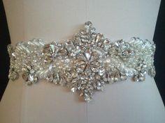 Amazon.com: Clear Rhinestone Pearl Wedding Bridal Dress Applique Trim = Diy! = BIG Sale!!