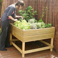 Wooden Raised Bed Platform