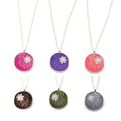Peony Necklace by Foxy Originals.  Can't decide on which colour combination I like the most!