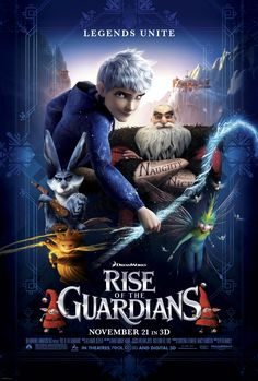 Rise of the Guardians , starring Hugh Jackman, Alec Baldwin, Isla Fisher, Chris Pine. When the evil spirit Pitch launches an assault on Earth, the Immortal Guardians team up to protect the innocence of children all around the world. #Animation #Adventure #Family #Fantasy