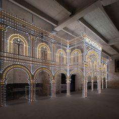 rem koolhaas frames monditalia entrance with swarovski la dolce vita illuminato