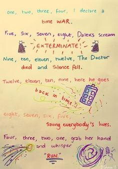 Doctor Who poem. This makes me so happy.