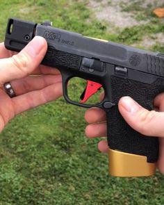 The shield project continues! This is one bad little gun. Cant wait to run it with the new Compensator and Barrel. And the best part is my current holster still works. Smith And Wesson Shield, Smith N Wesson, Weapons Guns, Guns And Ammo, Shotguns, Firearms, S&w Shield 9mm, Gun Quotes, 9mm Pistol