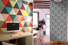 Moderno Moderna Decor Decoracao Paper Wall Parede Wallpaper Papel De