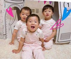 Cute Kids, Cute Babies, Song Il Gook, Triplet Babies, Man Se, Song Triplets, Superman Baby, Cute Songs, Twins