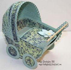 Mayas Hobbyblogg: DT InkyWings; Barnevogn tut/ Baby-pram tut  all made from paper