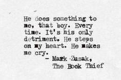 Markus Zusak, The Book Theif The best book I have ever read! It is amazing, unlike any book you will ever read. My favorite book ever, forever.
