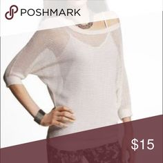 Express Metallic Open Stitch Dolman Sweater Dazzle, no matter the occasion. Take to work over a Cami  or for a night out. Wear to  the boardwalk topping a bandeau. Express Sweaters