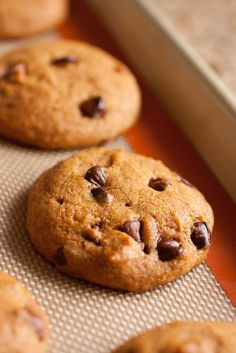 I had been looking for the perfect pumpkin chocolate chip cookie and THIS IS IT!! Perfect flavor and perfect texture.  PS...recipe calls for using both semi sweet and milk chocolate. I just used semi sweet. Used a small cookie scoop and cooked for 11min.