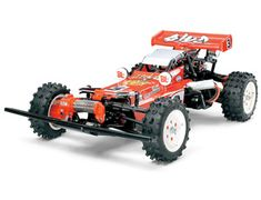 The Tamiya Hotshot 2007 in 1/10th scale has been awaiting re-release from the nostalgic Tamiya radio control range for some time. The eye-catching Hotshot 4WD radio control buggy, which was originally released in the 1980's and helped popularize the R/C car hobby. The Tamiya Hotshot has a timeless body shape matched with updated improvements to let both old and new R/C car fans enjoy exciting off-road action.