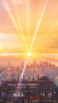 Anime Scenery Wallpaper, Hd Anime Wallpapers, Galaxy Wallpaper, Cute Wallpapers, Aesthetic Anime, Aesthetic Art, Makoto Shinkai Movies, Film Anime, Minimalist Wallpaper