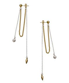 Bing Bang Bullet Front To Back Chain Earrings