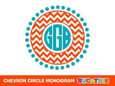 Chevron Circle Monogram Personalized SVG DXF Vector by SVGTREE