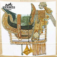 Hermes Scarf Shawl 100% Silk Carre 90 SELLE D'APPARAT MAROCAINE AUTHENTIC #Hermes #Scarf