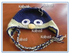 owl hat, handmade in crochet